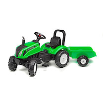 Falk Master Ride on Tractor and Trailer - Green