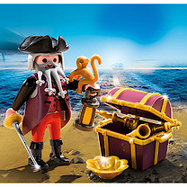 Playmobil - Pirate Figure with Treasure Chest