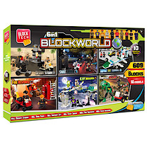 Block Tech 6-in-1 Blockworld Mega Box  - 609 Pieces