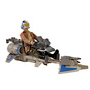 Star Wars The Force Awakens Speeder Bike and Poe Dameron