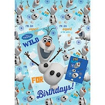 Disney Frozen Wrapping Paper, Birthday Card and Gift Tags Pack