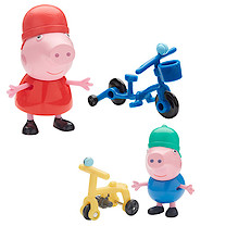 Peppa Pig Two Figure Pack with Accessories - Bicycle Peppa & George