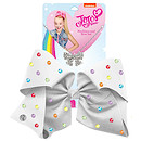 JoJo Siwa 20cm Signature Multi Colored Rhinestone Bow And Necklace Set -White