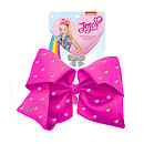 JoJo Siwa 20cm Signature Rhinestone Bow And Necklace Set - Hot Pink