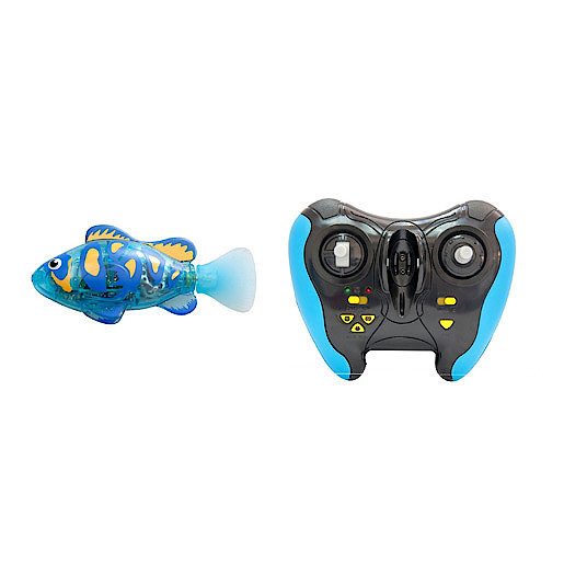 Remote Control Robo Fish With Tank - Blue