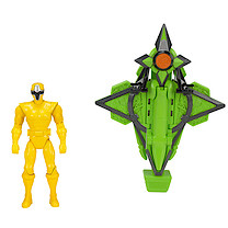 Power Rangers Mega Morph Cycle With Yellow Ranger