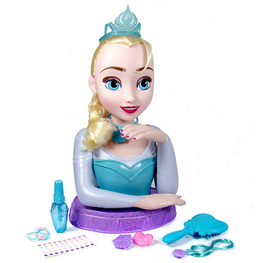 disney frozen deluxe elsa styling head the entertainer the entertainer. Black Bedroom Furniture Sets. Home Design Ideas