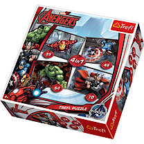 Marvel Avengers 4-in-1 Puzzles (35, 48, 54, 70 Pieces)