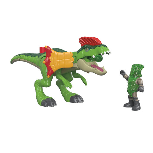 Imaginext Jurassic World Figure - Dilophosaurus & Agent