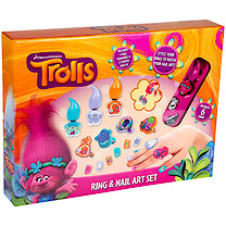 DreamWorks Trolls Ring & Nail Art Set