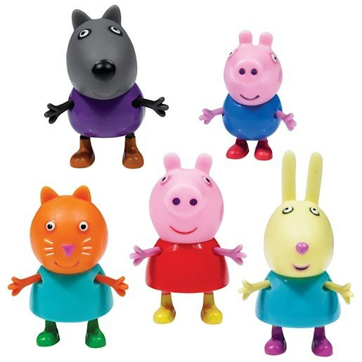 Peppa Pig 5 Figure Pack General - Baby  Birthday Your Baby Gifts - Girls - 0-3 months