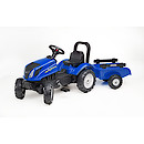 Falk Master Ride on Tractor and Trailer - Blue