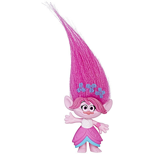 DreamWorks Trolls Poppy Hair Collectible Figure with Printed Hair