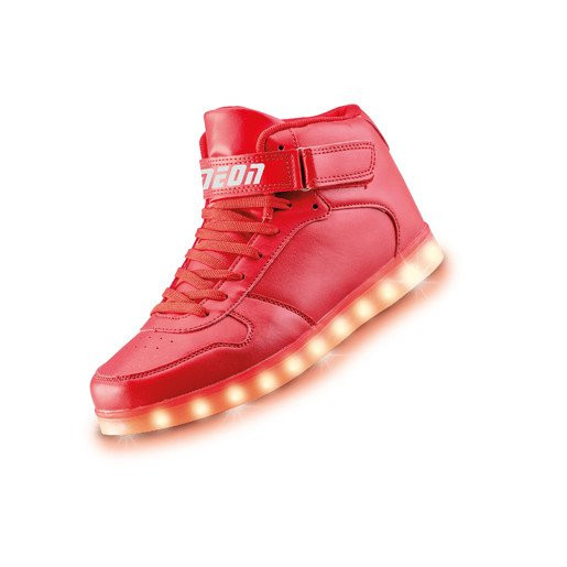Neon Kyx - Size 4 Red High Top Light Up Shoes