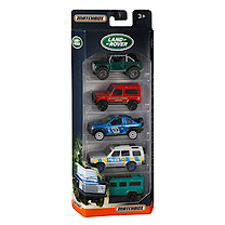 Matchbox 5 Pack Land Rover Diecast Vehicles (Styles Vary)