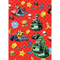 Super Mario 2 Sheets of Wrapping Paper and 2 Gift Tags