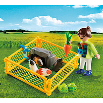 Playmobil - Girl Figure with Guinea Pigs