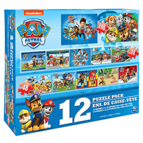 Paw Patrol 12 Puzzle Pack