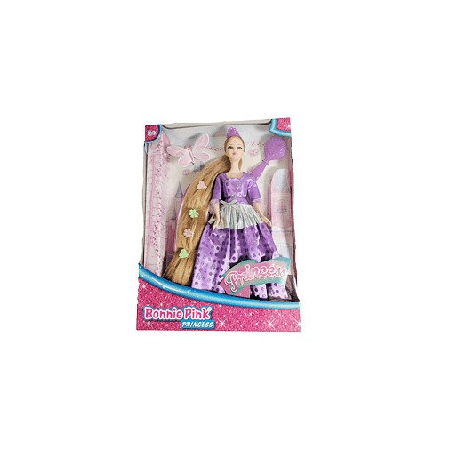 Bonnie Pink Blond Ultra Hair Princess Doll - Purple Dress