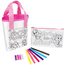Paw Patrol Colour Your Own Bag & Pencil Case Set