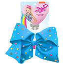 JoJo Siwa 20cm Signature Multi Colored Rhinestone Bow And Necklace Set -Blue