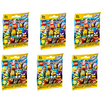 Lego The Simpsons Series 2 - Minifigures Mystery Bag - 6 Pack Bundle