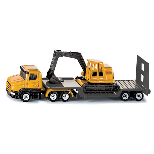 Siku Die Cast Low Loader Truck With Excavator