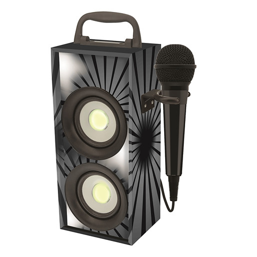 Portable Bluetooth Karaoke With Microphone - Black