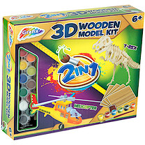 Grafix 2-in-1 3D Wooden Model Kit