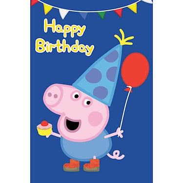 peppa pig brother george pig birthday card  the entertainer  the, Birthday card