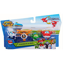 Super Wings Transform-a-Bots Planes 4 pack Jett, Mira, Paul, Grand and Albert