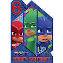 PJ Masks Birthday Card Age 6