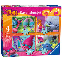 Ravensburger 4 in a Box Puzzles - DreamWorks Trolls