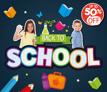 Back To School - Up To 50% Off!