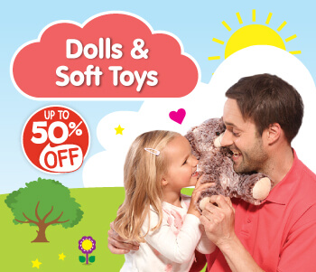 Dolls and Soft Toys - Up To 50% Off!