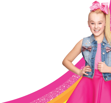 JoJo Siwa Bows and Rainbow
