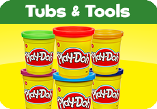Play-Doh tubs and tools Toys