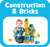 Baby and pre-school construction brick toys