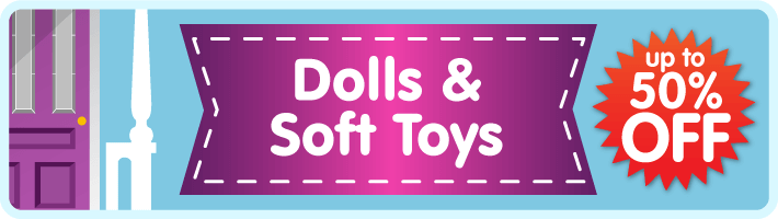 Dolls and soft toys sale